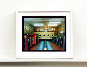 A London launderette interior which is a step out of time.