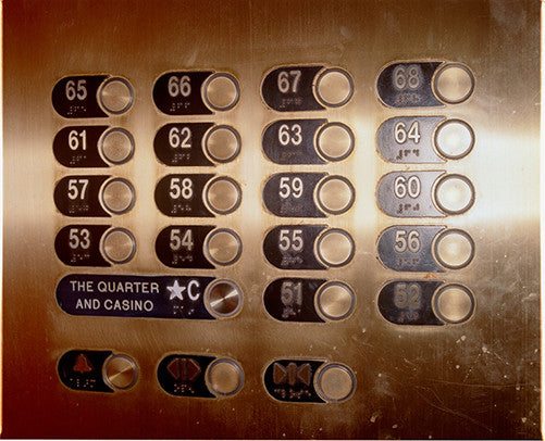 Elevator Buttons, Atlantic City, NJ, 2013