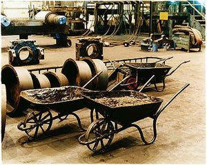 Grease waste wheelbarrows I, Bloom&Billet Mill, Scunthorpe 2007