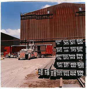 Concast loading in Queen's Carpark, Bloom&Billet Mill, Scunthorpe 2007