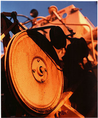 0°00' longitude, 52°35N' latitude, Combine Harvester, Wisbech St Mary's Wash 2001