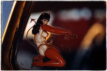 Bettie Page Devil Decal, Las Vegas 2000