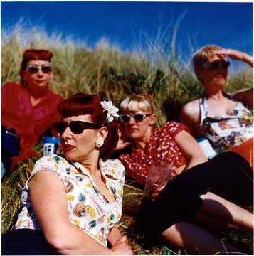 Lynn, Lisa, Charlotte and Theresa, Norfolk, 2001
