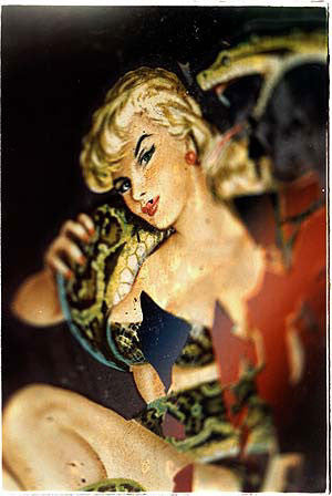 Girl & Snake Decal, Las Vegas 2002