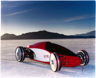 a Version of Alex Xydias belly tank lakester, Bonneville, Utah 2003