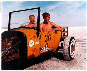 Otto & RJ in Otto's Model T I, Bonneville, Utah 2003