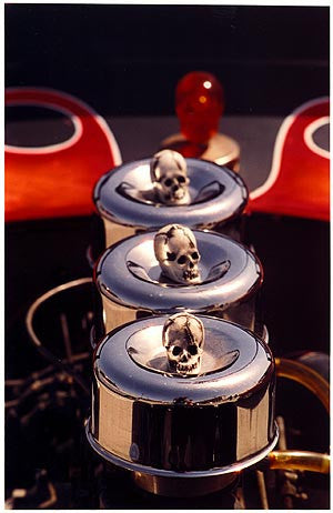 Air intake with Skulls, Las Vegas 2000