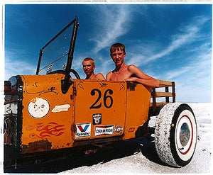 Otto & RJ in Otto's Model T II, Bonneville, Utah 2003