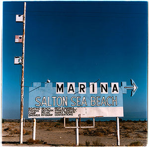 Marina Sign II, Salton Sea Beach, Salton Sea, California 2003