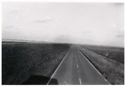 A view of the Fens from the car with wings, Cambridgeshire 1994