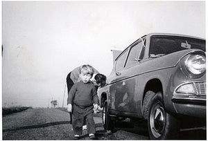Tyre change by Frances Heeps, Cambridgeshire 1968