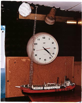 Clock & Model - Radio Caroline, Port of Tilbury 2004
