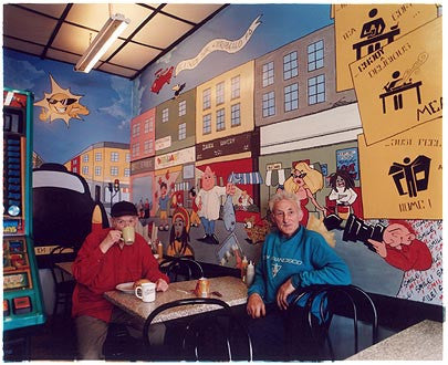 Albert & Stanley - Portobello Road Cafe, Nottinghill, London 2004