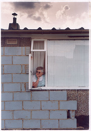 Mrs Swan at Window II, Post War Prefab, Wisbech 1993