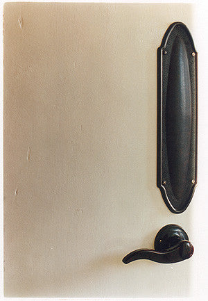 Door - Black Finger Plate, Post War Prefab, Wisbech 1993