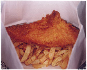 Fish & Chips - The Fishcotheque, Nr Waterloo Station, London 2004