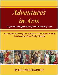 Adventure In Acts: The Disciples Of Christ In Action (Book and Reproducible Lessons on CD-ROM)