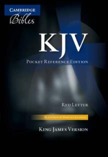 Cambridge Pocket Reference KJV Bible (Red Letter)