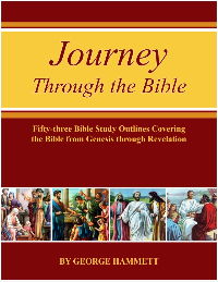 Journey Through the Bible  - 53 Bible Study Outlines Covering the Bible From Genesis Through Revelation (CD/Book)