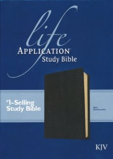 CLEARANCE - Life Application Study KJV Bible (Black, Bonded Leather)