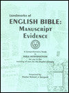 Landmarks Of The English Bible: Manuscript Evidence - Book Heaven - Challenge Press from BIBLE BAPTIST CHURCH PUBL