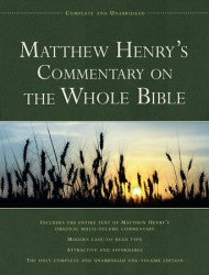 Matthew Henry's Commentary on the Whole Bible - Book Heaven - Challenge Press from SPRING ARBOR DISTRIBUTORS