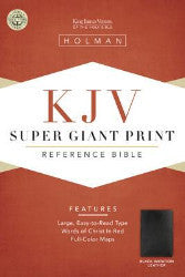 Holman Super Giant Print KJV Reference Bible (Black, Imitation Leather) - Book Heaven - Challenge Press from SPRING ARBOR DISTRIBUTORS