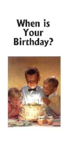 When is Your Birthday? (Tract) - Book Heaven - Challenge Press from CHALLENGE PRESS