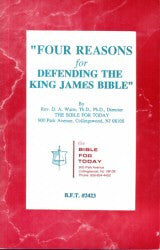 Four Reasons for Defending the King James Bible (Booklet) - Book Heaven - Challenge Press from BIBLE FOR TODAY