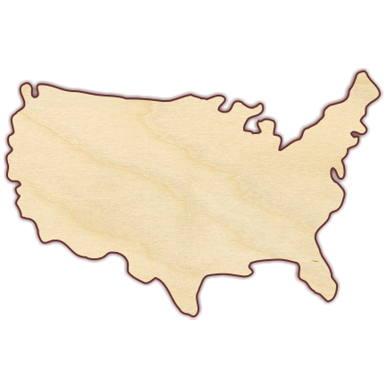 united states map cut out United States Outline Map Shape Wood Cutout The Wooden Hare