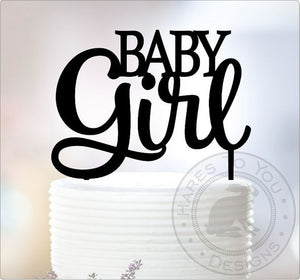 baby girl cake topper baby shower