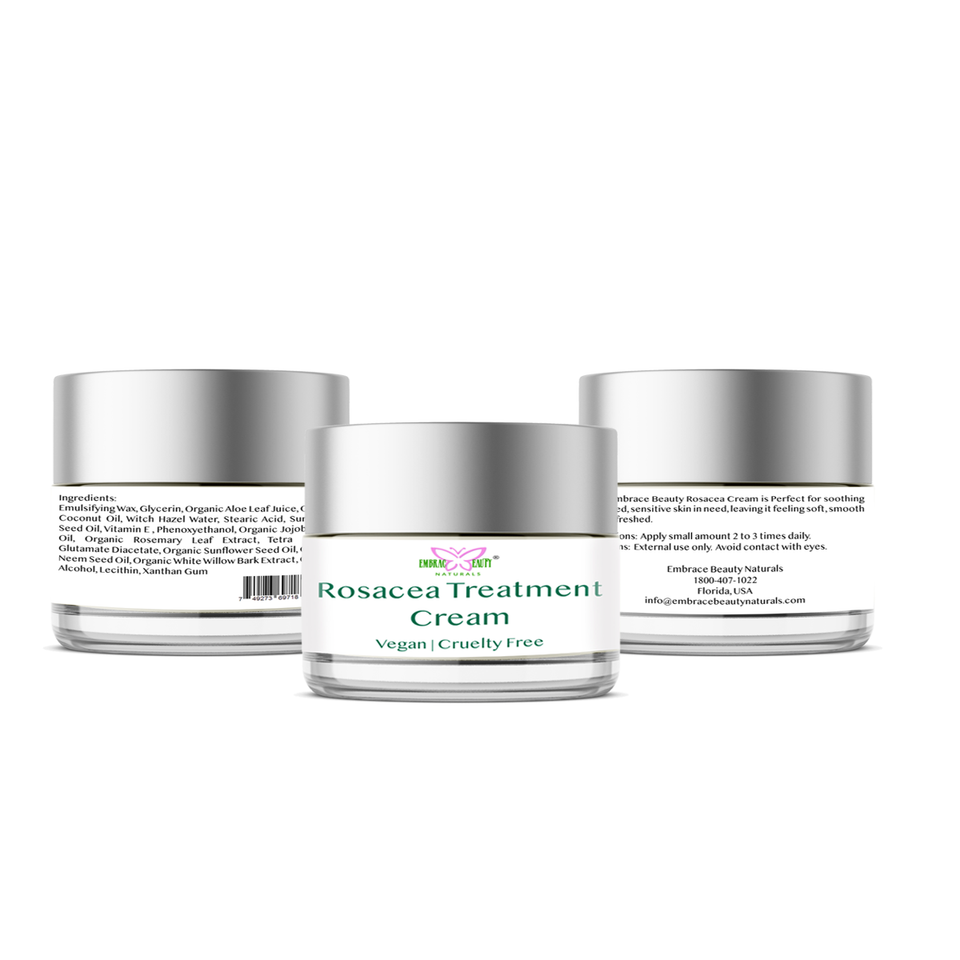 Rosacea Treatment Cream  Redness & Inflammation Relief / Acne, Itch & Scar Treatment