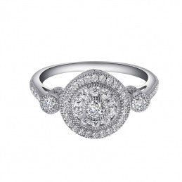 Graceful Halo Ring - Lafonn R0041CLP