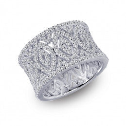 Pave Glam Wide Pave Ring - Lafonn 7R015CLP