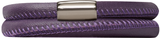 Purple Leather Bracelet - Endless Jewelry 12106