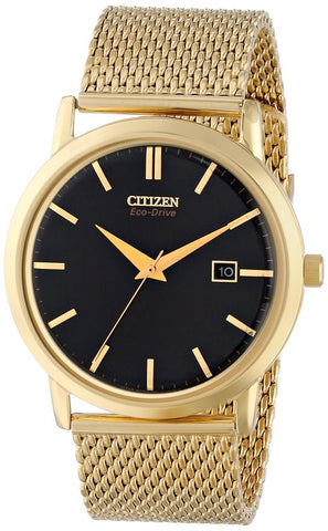 Citizen Men's BM7192-51E Mesh Collection Analog Display Japanese Quartz Gold Watch