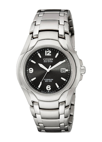 "Citizen Men's BM6060-57F ""Eco-Drive"" 180 WR100 Titanium Bracelet Watch"