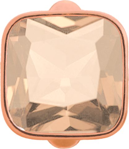 Big Rose Cube - Endless Jewelry Rose Gold Plated Sterling Silver Charm 61302-4