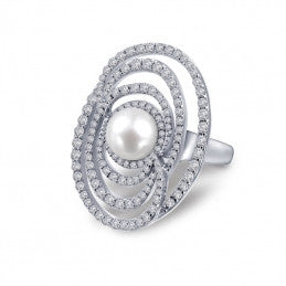 Red Carpet Pearl Ring - Lafonn 8R011CLP