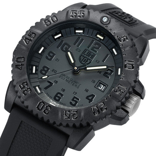 Evo Navy Seal Colormark Series Blackout Luminox Watch A