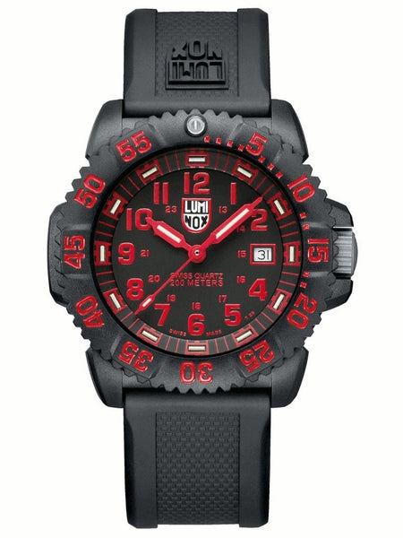 Navy Seal Colormark Series Red Luminox Watch A 3065 Pauling