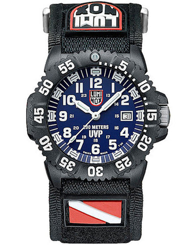 Scott Cassell Specials Sea Diver Blue Dial Men's Luminox Watch A-3054-Set