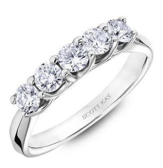 5 Stone Diamond Anniversary Band - Scott Kay