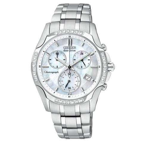 FB1250-52D Citizen Women's Eco-Drive Brycen Diamond Chronograph Watch