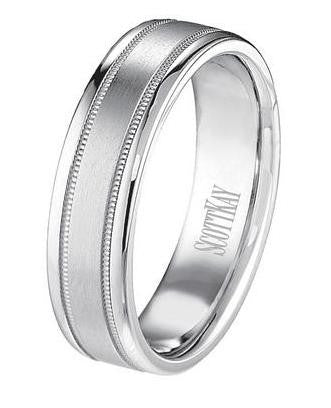 Men's Luminaire Gold Wedding Ring - Scott Kay