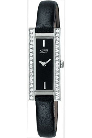 Ladies Stainless Steel Black Strap Watch - SB5360-01E