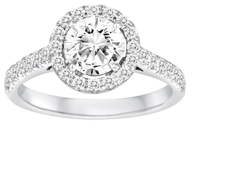 Halo Diamond Engagement Ring - Diadori