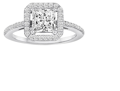Square Halo Engagement Ring - Diadori