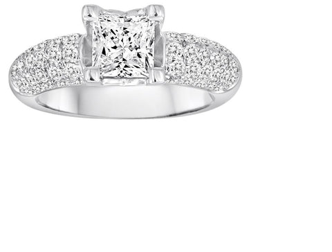 Pave Engagement Ring - Diadori