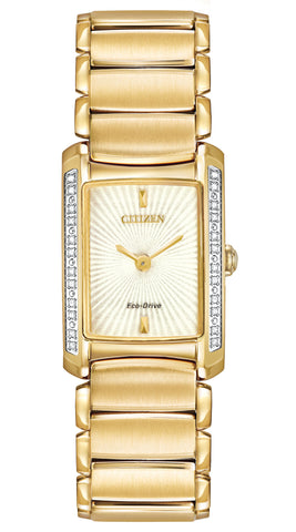 EG2962-51A Citizen Eco-Drive Women's Euphoria Diamond Accented Gold-Tone Watch